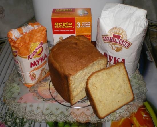 Panasonic SD-2501. Хлеб из нескольких видов муки.