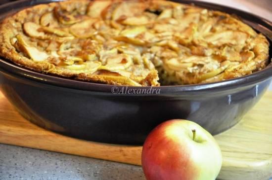 Легкий яблочный клафути