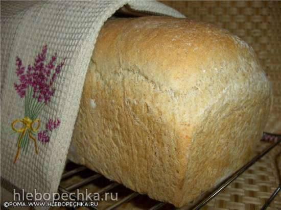 Хлеб с итальянской цельнозерновой мукой на твороге (духовка)