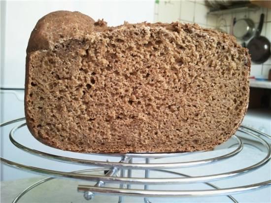 Хлеб пшенично-ржаной заварной с отрубями (хлебопечка)