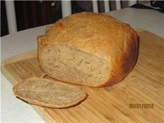 Пшенично-гречишный хлеб с семенами льна