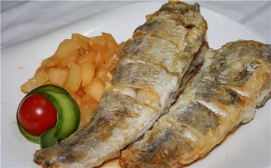 Рыба под красным соусом