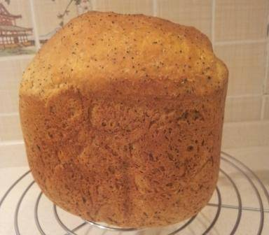Пшеничный 100% цельнозерновой хлеб с луком, на твороге