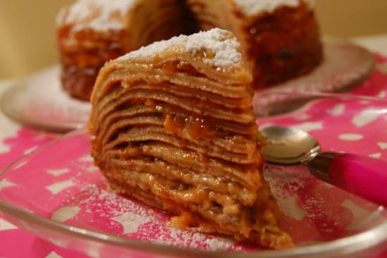 Тёплый блинный торт-суфле