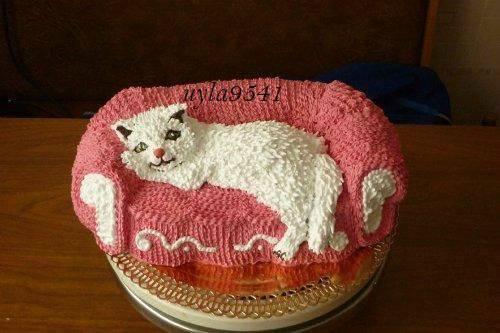 "Торт ""Котенок на диване "" Мастер-класс"