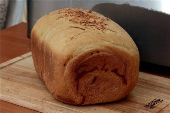Хлеб-рулет с вялеными помидорами, сыром и розмарином (хлебопечка)
