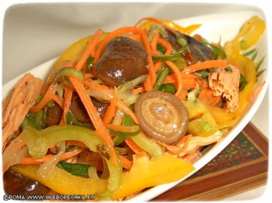 "Спаржа по мотивам ""корейской морковки"""