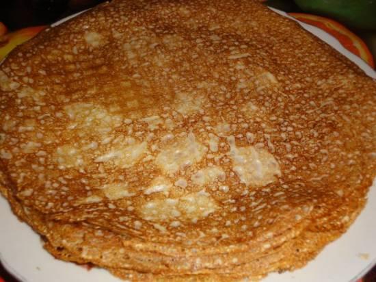 Блинчики сливочные (тесто с добавлением сметаны)