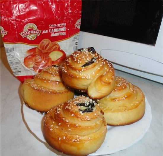 Сладкие кунжутные булочки