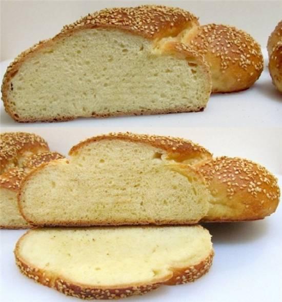 Сицилийский кунжутный хлеб Мафалда (духовка)