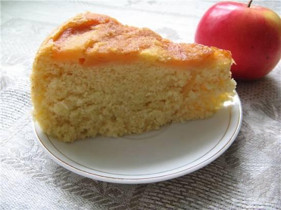 Бисквит молочный с карамелизированными яблоками (Panasonic SR-TMH 18)
