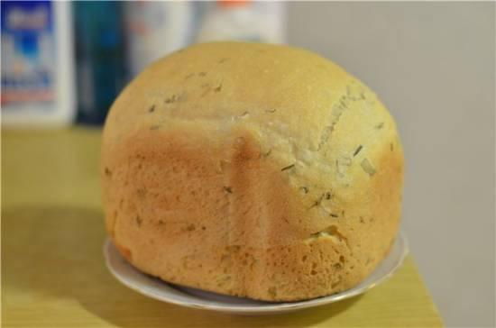 Луковый хлеб в хлебопечке Panasonik 2501