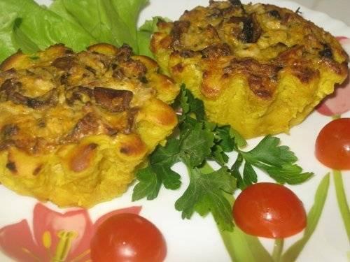 Картофельные корзиночки с аппетитной начинкой