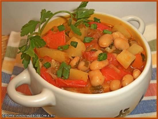 Рагу овощное с фасолью (скороварка Brand 6050)