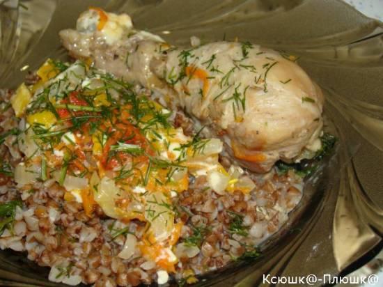 Голень куриная с овощами в мультиварке