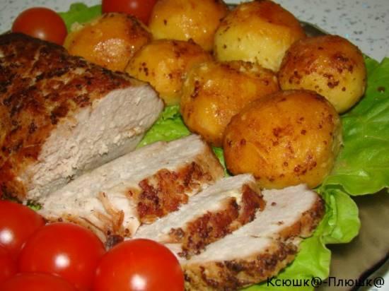 Мясо а-ля Буженина + картофель печеный (скороварка Brand 6050)