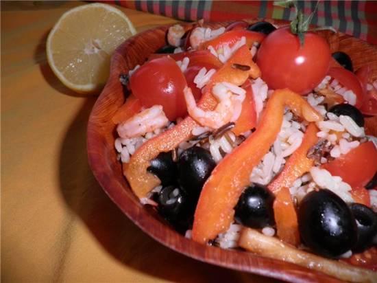 Испанский креветочный салат