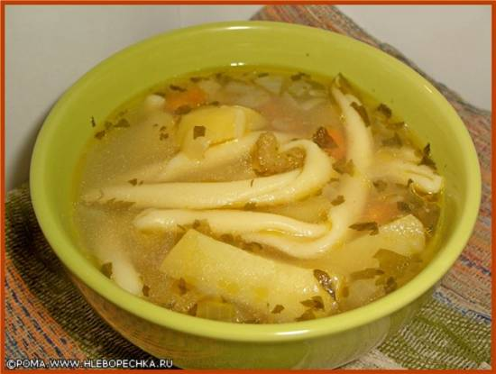 Суп картофельный с макаронами (скороварка Brand 6050)