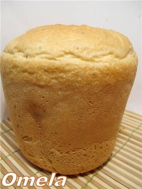 Хлеб пшеничный с анисом на опаре в хлебопечке