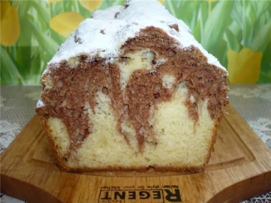 Кекс шоколадно-творожный