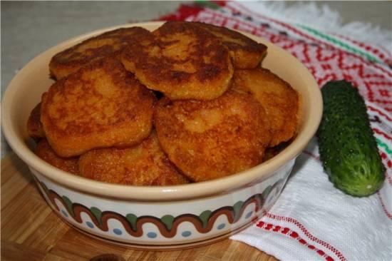 """Картофельные оладки с мясом """"Медвежья лапа"""" Драники картофельно-морковные"""