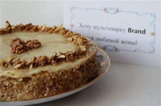 Торт постный «Ореховый»