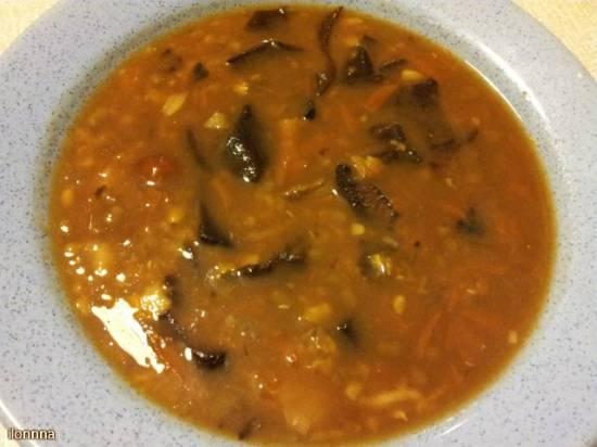 Грибной суп из сухих боровиков