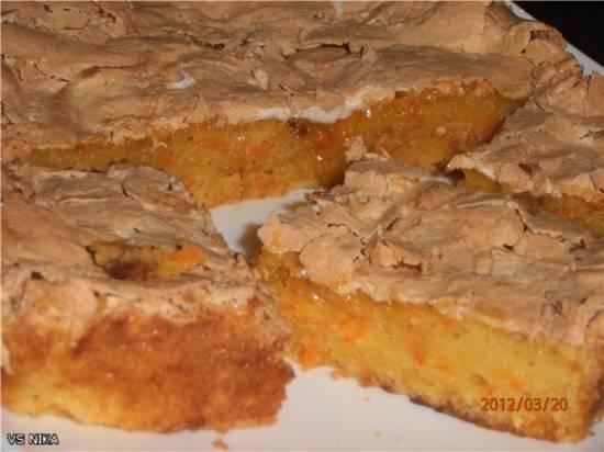 Морковный пирог (на бисквитной основе)