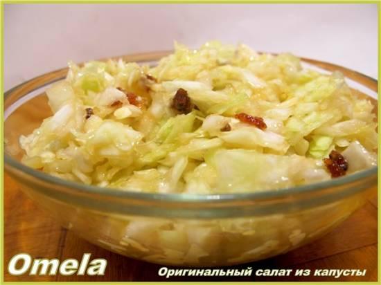 Оригинальный салат из капусты