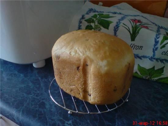 Panasonic 2500. Обычный белый хлеб с изюмом