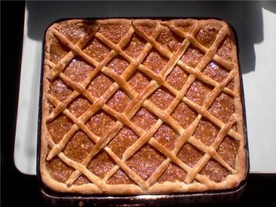 Открытый пирог с яблоками и курагойОткрытый пирог с яблоками и курагой