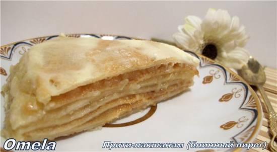 Прити-лакшанам (блинный пирог)