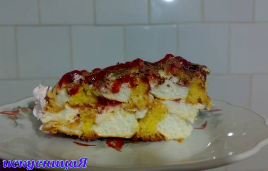 Торт Kardinalschnitte  или полоска Кардинал