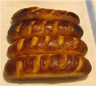 Сдобные булочки в багетнице хлебопечки