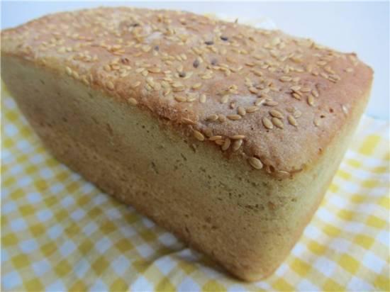 Пшенично-кукурузный хлеб с льняным семенем