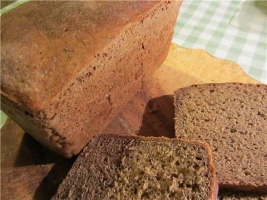 Ржано-пшеничный цельнозерновой хлеб на закваске-полуфабрикате