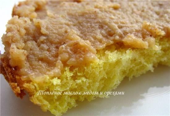 Топлёное масло с мёдом и орехами в хлебопечке Brand 3801