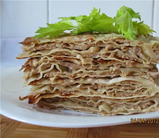 Китайские лепешки со свининой Жоубин