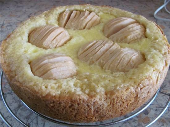 Пирог яблочный со сливочным кремом (мультиварка Aurora) Пирог яблочный со сливочным кремом (мультиварка Aurora)