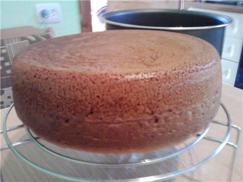 Черешневый пирог Кекс с черешней (мультиварка Орион)