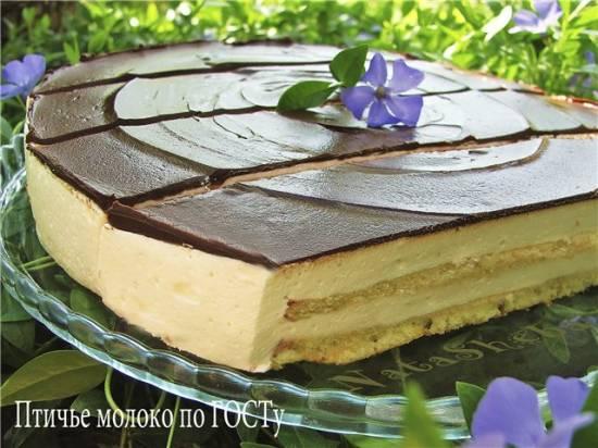 Торт «Птичье молоко» на желатине (мультиварка Aurora)
