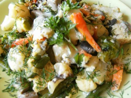 Запеканка овощная по-французски  на пару