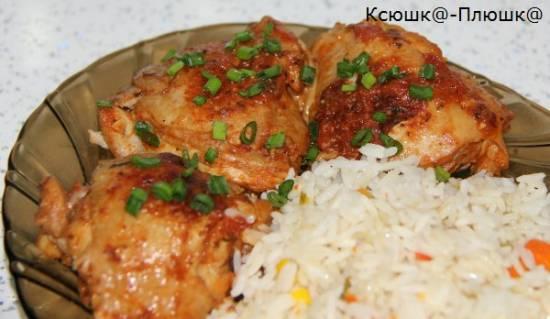 Куриные бедрышки в томатно-чесночном маринаде (мультиварка Brand 37501)Куриные бедрышки в томатно-чесночном маринаде (мультиварка Brand 37501)