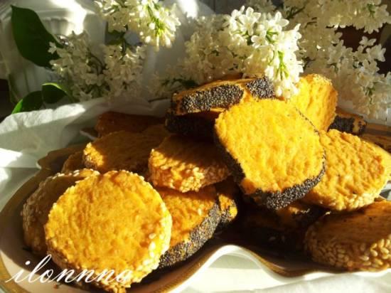 Литовское сырное печенье с маком