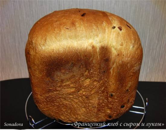 Французский хлеб на кефире (хлебопечка)