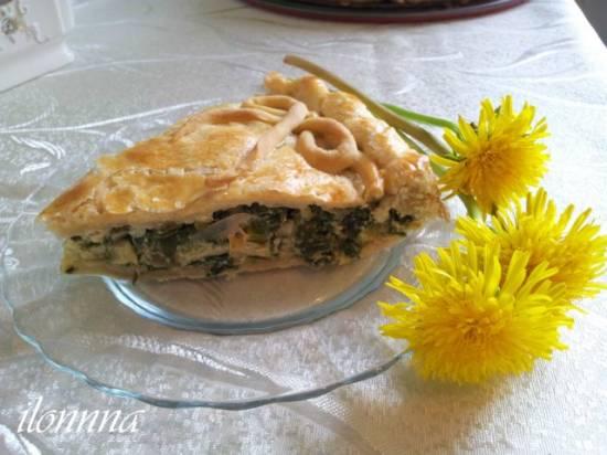 Пирог с луком-пореем
