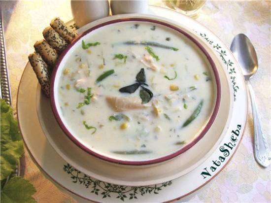"""Сырный кукурузный суп с мясом кролика из кинофильма """"Огниво"""""""