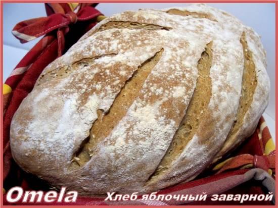 Хлеб яблочный заварной в духовке (мастер-класс)