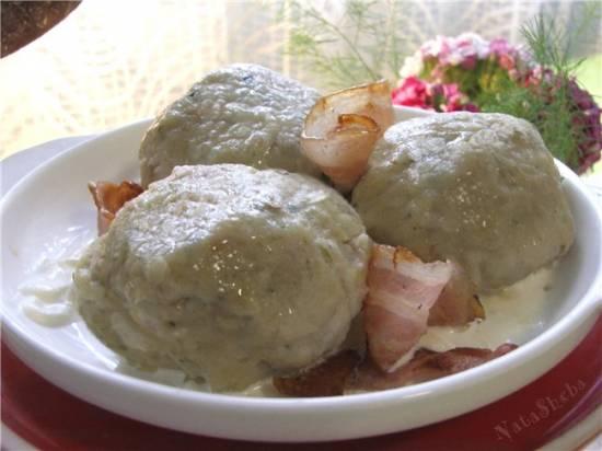 Кёнигсбергские хлебные клецки со шпиком и колбасками из К/ФОгниво