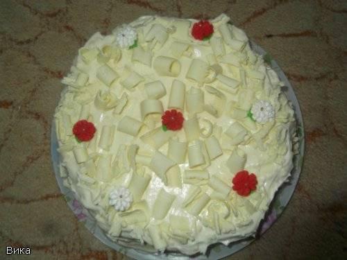 """Торт """"Рафаэлло"""" с белым шоколадом"""